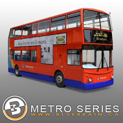 3D Model of Highly detailed London Bus. - 3D Render 0