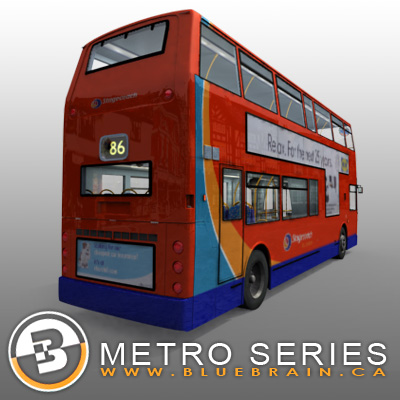 3D Model of Highly detailed London Bus. - 3D Render 2