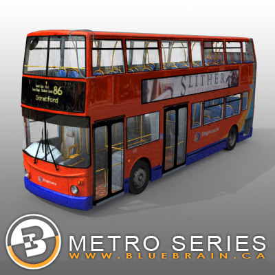 3D Model of Highly detailed London Bus. - 3D Render 4