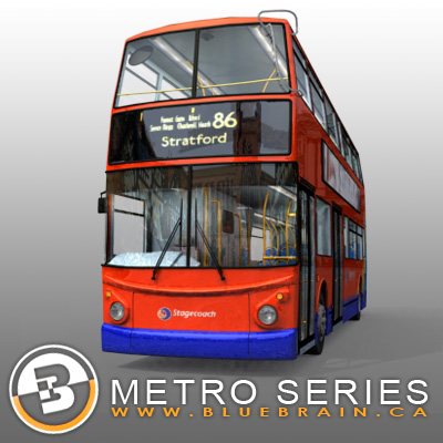 3D Model of Highly detailed London Bus. - 3D Render 5