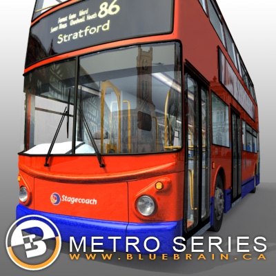 3D Model of Highly detailed London Bus. - 3D Render 6