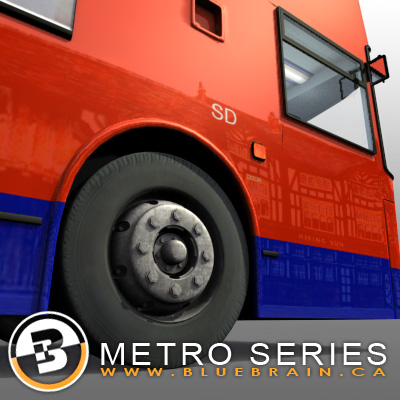 3D Model of Highly detailed London Bus. - 3D Render 8