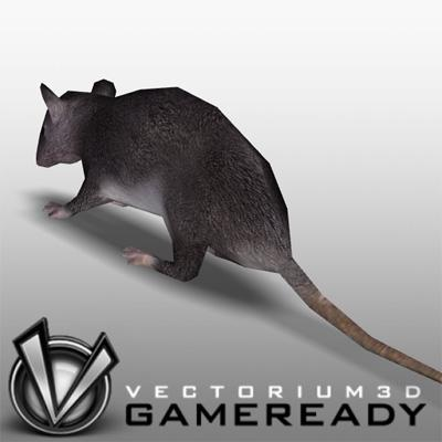 3D Model of Low Poly Game Ready Animals -  - 3D Render 1
