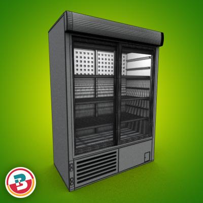 3D Model of Grocery Cooler - 3D Render 4